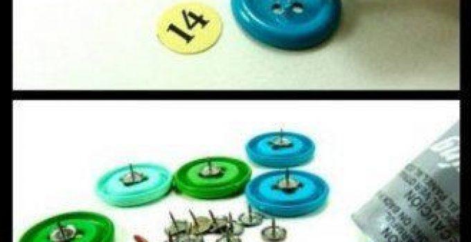 Calendario de la sala realizado con botones