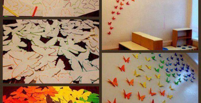 Mariposas y flores para decorar la sala en primavera (1)