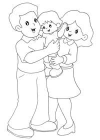 Imágenes de la familia para pintar en el jardín (2)