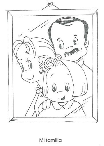 interesting imgenes de la familia para pintar en el jardn