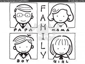 Imágenes de la familia para pintar en el jardín (5)