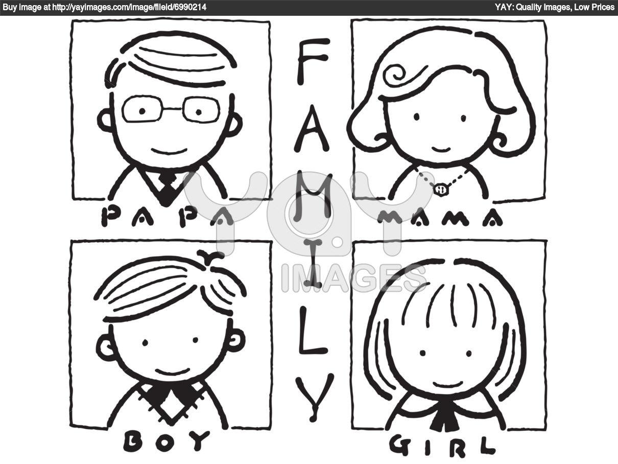 Dibujos De Familia Imágenes Para Colorear Y Pintar: Maestra Jardinera