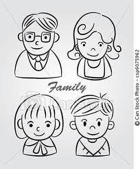 Imágenes de la familia para pintar en el jardín (6)