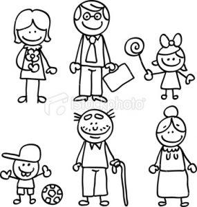 Imágenes de la familia para pintar en el jardín (7)