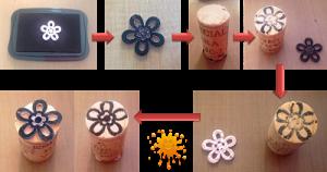 Técnica de sellado con diferentes objetos (2)