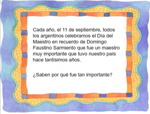 Cuento de Sarmiento para el día del maestro 2