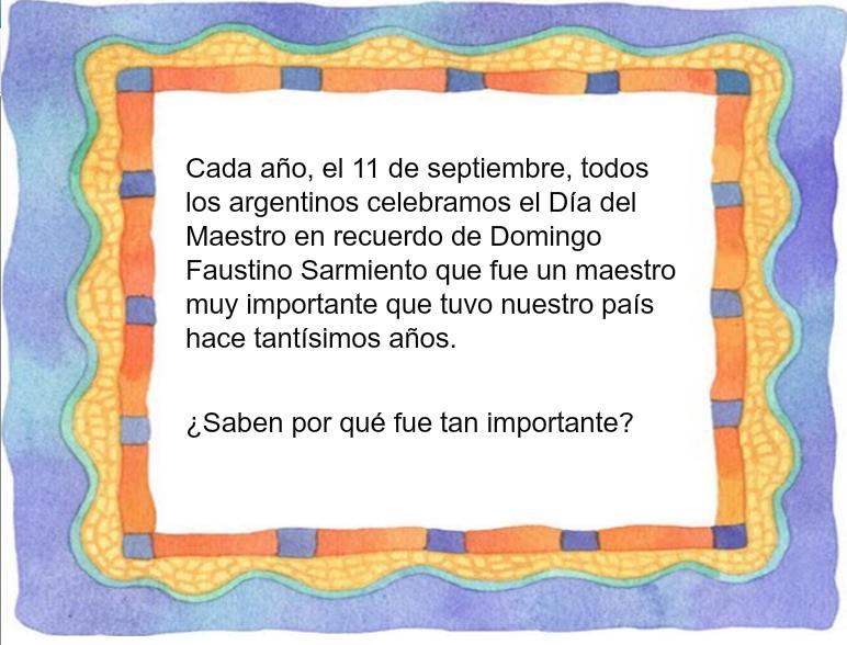 Cuento de Sarmiento para el día del maestro – Maestra Jardinera